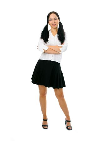 beauty girl portrait on white background Stock Photo - 2495593