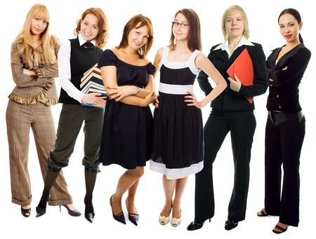 people woman group on white background Stock Photo - 2712077