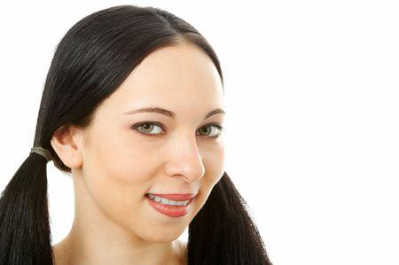 beauty woman portrait on white Stock Photo - 2712066