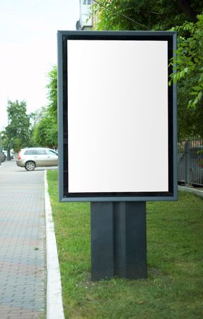 hoarding: advertisement hoarding in the city with copy space