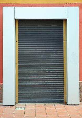 jalousie: metal jalousie on a wall
