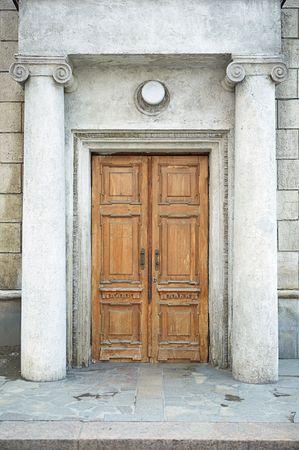 fanlight: old door in history building Stock Photo