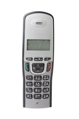 flip phone: phone isolated over white background