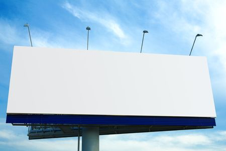 Blank big billboard over blue sky Stock Photo - 3843459