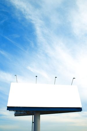 Blank big billboard over blue sky Stock Photo - 3843443