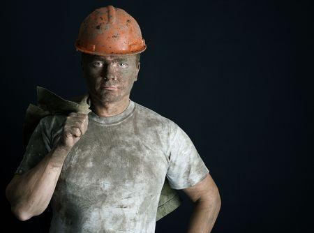close-up portraitm worker man mine Stock Photo - 3858926