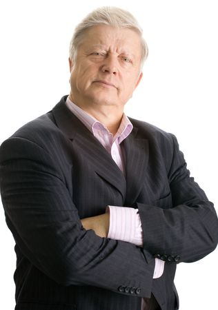 portrait  mature businessman on white background Stock Photo - 3858892