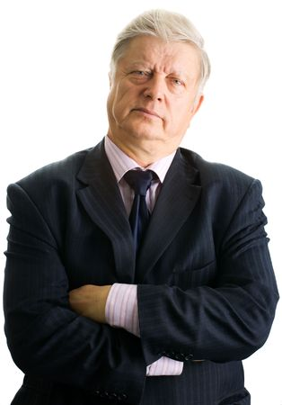 portrait  mature businessman on white background Stock Photo - 3858914