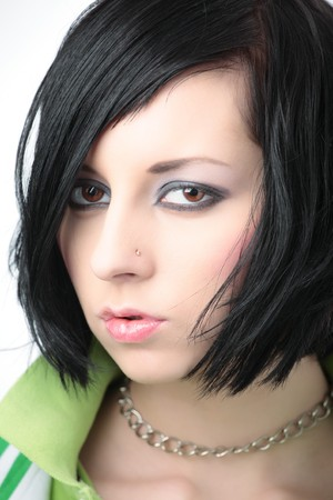 portrait of emo girl  beauty face Stock Photo - 4249445