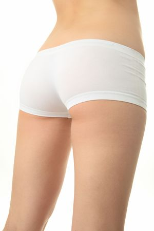 beauty woman closeup bodyparts on white background Stock Photo - 5542290