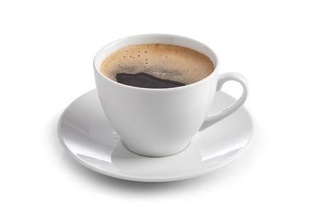 kopje koffie op een witte achtergrond