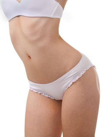 beautiful healthy woman body in white underwear Stock Photo - 9759037