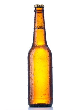 bottle beer isolated on white background Stock Photo