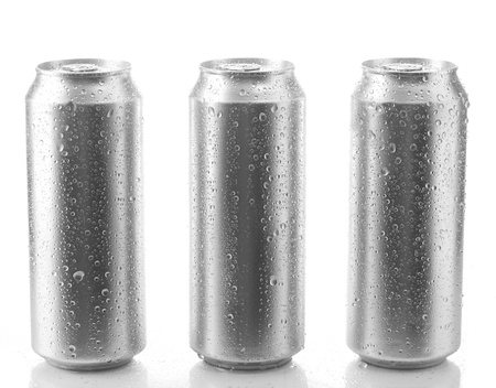 single beer: beer can isolated on white background Stock Photo