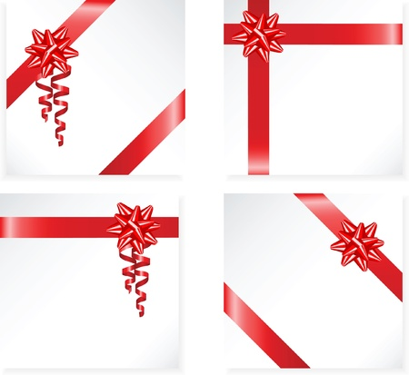 tied up: Gift red ribbon and bow vector Illustration