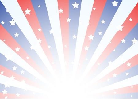 voting: Hintergrund mit roten wei�en und blauen Streifen mit Sternen