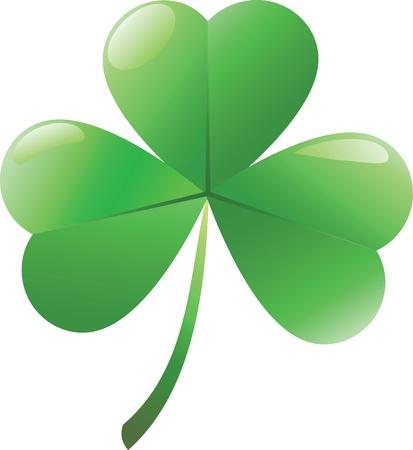 Ierse shamrock geà ¯ soleerd op witte achtergrond