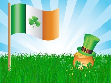 irish landscape: St  Patrick day card