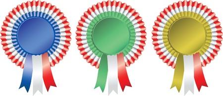 award ribbon rosette: Blank award ribbon rosette  Illustration