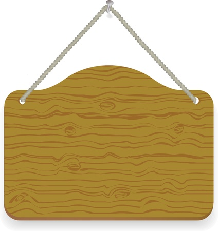 varnished: Old wood notice board isolated on white  Illustration