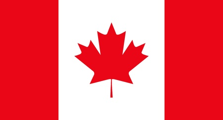 canadian flag: Flag Canada Illustration