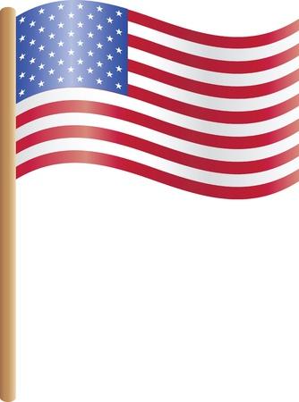 senate: Illustration of the USA flag  Illustration