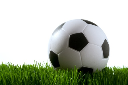 soccer ball on green grass Stock Photo - 12929755