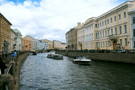 saint petersburg: embankment and pavement in St. Petersburg