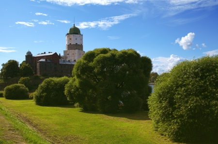 13th century: Vyborg Castle dating from the 13th century Editorial
