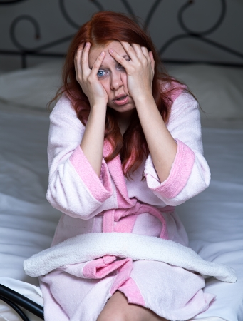 Young woman suffering from headache Stock Photo - 20146832