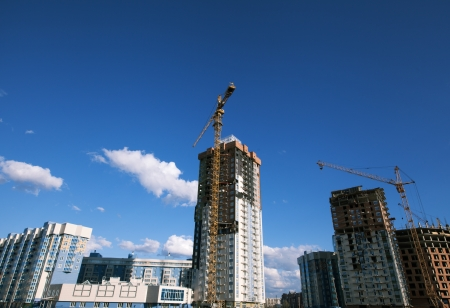 Construction site with crane and building Stock Photo - 20561350