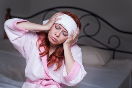 Young woman suffering from headache Stock Photo - 20561207