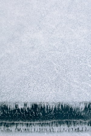 crazing: texture of ice and snow in winter