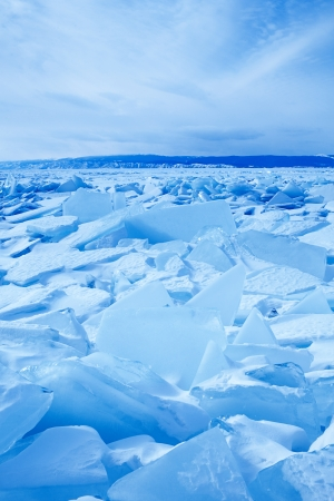 floe: Winter ice landscape on  lake Baikal