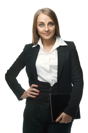 beauty business woman with tablet PC Stock Photo - 23184690