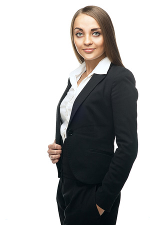 beauty business woman over white background Stock Photo - 23488221