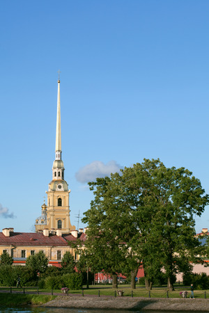 Peter and Paul Fortress in Saint-Petersburg in Russia photo