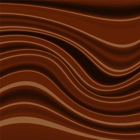 indulgence: chocolate wavy background Illustration