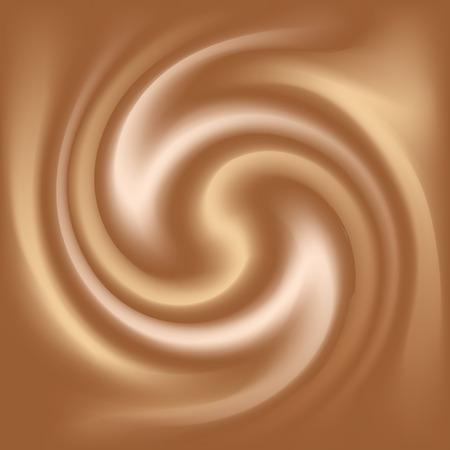 cappucino: koffie en melk abstracte textuur Stock Illustratie