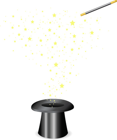 tophat: Vector - Magic wand and Hat Illustration