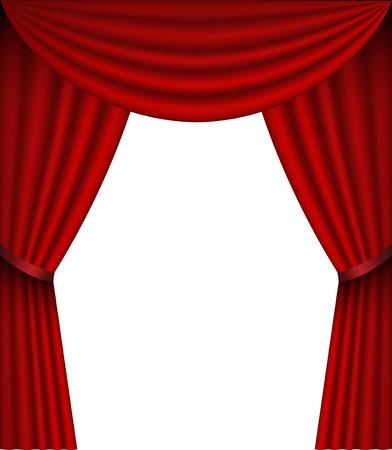 draped: vector Curtain Illustration
