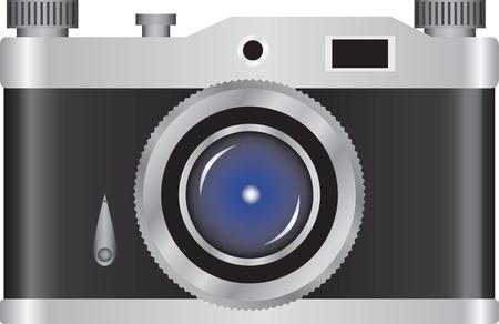 reflex camera: Vector illustration of retro camera