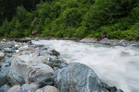 stream: mountain river Stock Photo