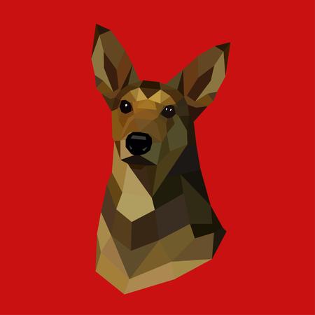 Con Chó Hình Học đa Giác Hình ảnh Bằng Màu Nâu Cliparts