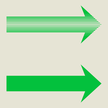 Flecha verde lineal. Aislado en el fondo. Diseño de la flecha. La flecha del vector del fondo. Fondo de la flecha de línea. Flecha abstracta. Flecha geométrico. Icono de la flecha. Flecha moderna. Flecha geométrica. Logo de la flecha. La flecha del vector.