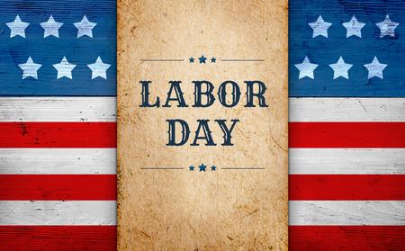 Labor Day banner Stockfoto