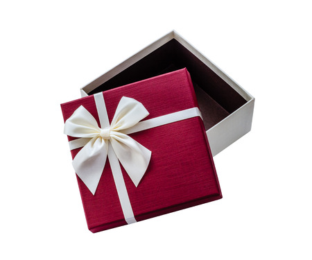 open gift box: Open gift box isolated on white background