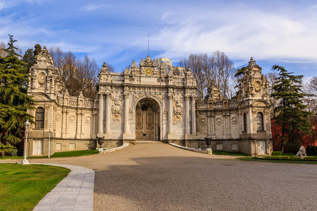 Dolmabahce palace in Istanbul, baroque architecture