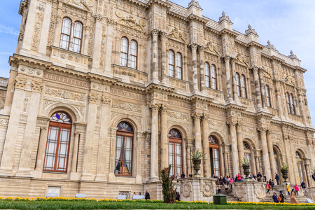 Facade of Dolmabahce palace Istanbul