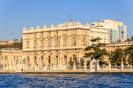 the marmara: Dolmabahce palace, Istanbul, view from Marmara sea